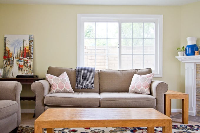Window Behind Couch