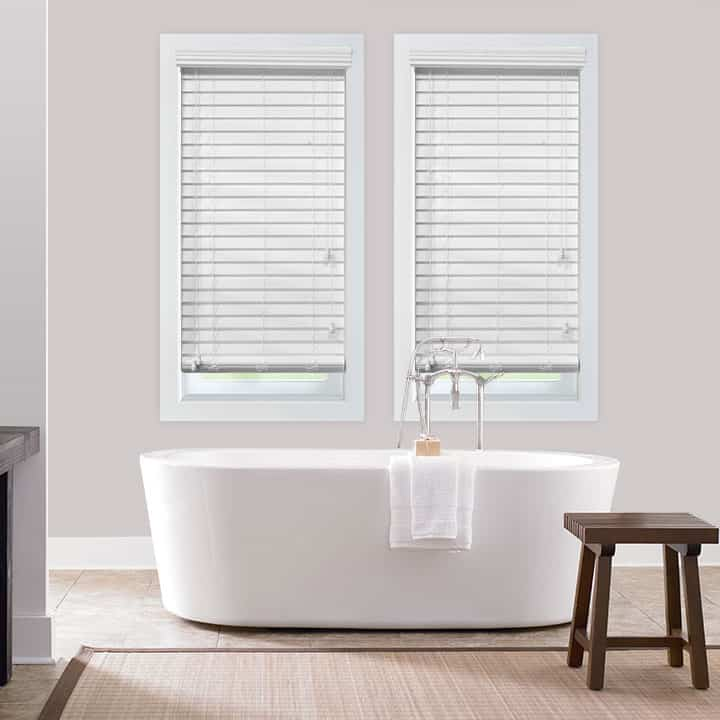 Faux Wood Blinds for Bathroom